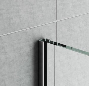 GPS14/12 - profil pro vkládání skla sprchy na obklad, 210 cm, nerez ocel