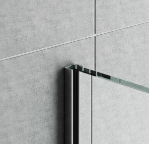 GPS14/12 - profil pro vkládání skla sprchy na obklad, 250 cm, nerez ocel