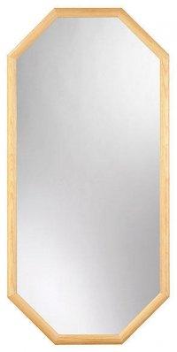 202-115 zrcadlo, obdélník, dřevěný rám, 115x39 cm