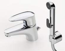 Vega - baterie páková pro umývátka, ruční sprška Bidetta, vypouštěcí ventil