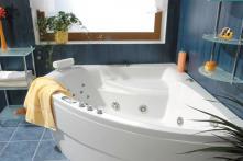 Auriga 150x150 P - masážní systém Duo Light (vodní a vzduchová masáž)