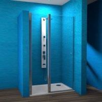 ESDKR 1-1/100 P - sprchové dveře křídlové pravé 100x190 cm, rám elox