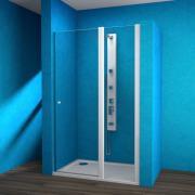 ESDKR 1-1/140 P - sprchové dveře křídlové pravé 140x190 cm, rám bílý