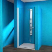 ESDKR 1/80 P - sprchové dveře křídlové jednodílné pravé 80x190 cm, rám elox