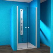 ESDKR 2/120 - sprchové dveře křídlové dvoudílné 120x190 cm, rám elox