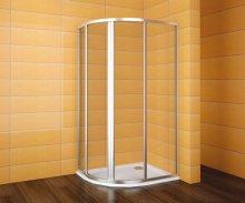SKKH 2/100-90 R55 - sprchový kout čtvrtkruhový 100x90x185 cm R55, sklo čiré s water off