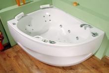 Spinell 180x130 L - masážní systém Eco Hydroair (vodní a vzduchová masáž)