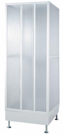 BCDT 2/79 B/5P - 2S - průmyslový sprchový dvojbox s dveřmi 79x79x214, rám bílý
