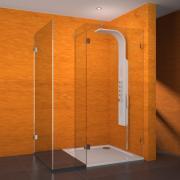 NSSL3 P - pevná sprchová stěna pravá 150x100x200 cm