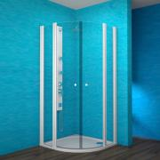 ESKKH 2/100 R55 - sprchový kout čtvrtkruhový 100x100x190 cm R55, rám bílý