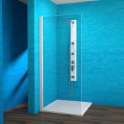 EBS 1/90 L - boční stěna sprchová levá 90x190 cm, rám bílý