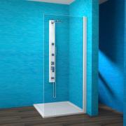 EBS 1/90 P - boční stěna sprchová pravá 90x190 cm, rám bílý