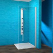 EBS 1/100 P - boční stěna sprchová pravá 100x190 cm, rám elox