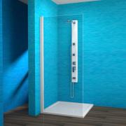 EBS 1/100 L - boční stěna sprchová levá 100x190 cm, rám elox