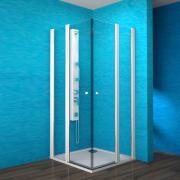 ESKRH 2/100 - sprchový kout čtvercový 100x100x190 cm, rám bílý