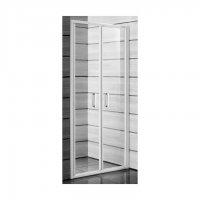 Lyra Plus - sprchové dveře lítací  90 cm, sklo stripy