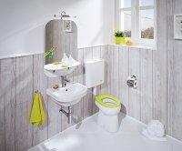 Baby - WC sedátko bez poklopu, duroplast, antibak, zelená