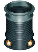 Šachtová kopule pro hlubší uložení, s otvory, hloubka 470-950 mm