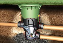 Podzemní filtrační šachta, hloubka 57-105 cm, s pochozím poklopem