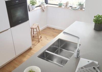 nerezové kuchyňské dřezy