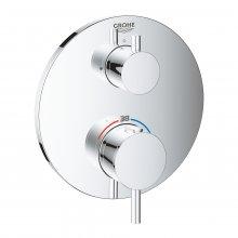 Atrio - podomítková termostatická baterie pro 1 výstup s uzavíracím ventilem, bez podomítkového tělesa