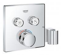 Grohtherm SmartControl - termostat pro podomítkovou instalaci s 2 ventily, držák, bez podomítkovéhotělesa