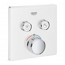 Grohtherm SmartControl - termostat pro podomítkovou instalaci s 2 ventily, bez podomítkového tělesa, bílá