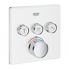 Grohtherm SmartControl - termostat pro podomítkovou instalaci s 3 ventily, bez podomítkového tělesa, bílá