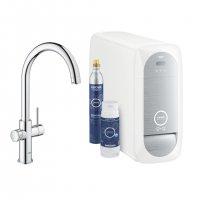 GROHE Blue Home - baterie s filtrační a chladící funkcí, s flexibilním nastavením tvrdosti vody