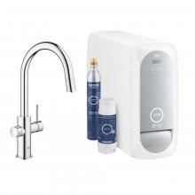 GROHE Blue Home - baterie s filtrační a chladící funkcís flexibilním nastavením tvrdosti vody, vytahovací perlátor