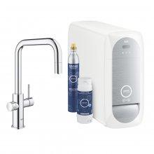 GROHE Blue Home - baterie s filtrační a chladící funkcí, s flexibilním nastavením tvrdosti vody, vytahovací perlátor