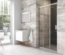 BLDP3 100 dveře posuvné, lesk/sklo transparent