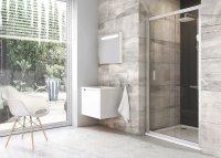BLDP2 100 dveře posuvné, rám lesk/sklo transparent