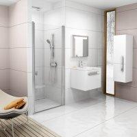 CSD1 80 sprchové dveře lítací, rám bílý/sklo transparent