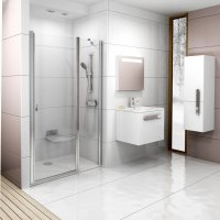 CSD2 120 sprchové dveře lítací, rám lesk/sklo transparent
