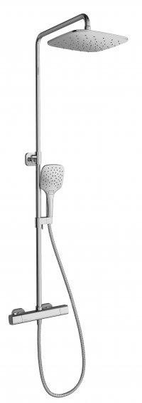 Sprchový sloup 10° TD 091.00/150, s termostatickou baterií a sprchovým setem