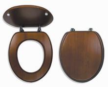 WC sedátko dub tmavý, dýhované dřevo