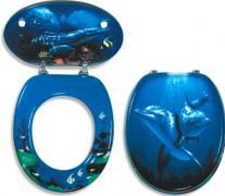 WC sedátko delfín, MDF