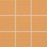 Color Two (RAL 0607050) - dlaždice mozaika 10x10 oranžová matná, R10 B, mrazuvzdorná
