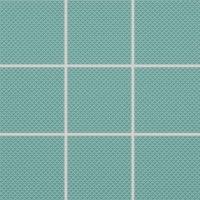 Color Two (RAL 1907025) - dlaždice mozaika 10x10 tyrkysová matná, R10 B, mrazuvzdorná