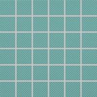 Color Two (RAL 1907025) - dlaždice mozaika 5x5 tyrkysová matná, R10 B, mrazuvzdorná