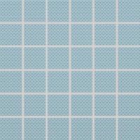 Color Two (RAL 2408015) - dlaždice mozaika 5x5 modrá matná, R10 B, mrazuvzdorná