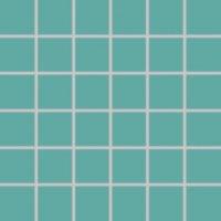 Color Two (RAL 1907025) - dlaždice mozaika 5x5 tyrkysová matná, mrazuvzdorná