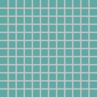 Color Two (RAL 1907025) - dlaždice mozaika 2,5x2,5 tyrkysová matná, mrazuvzdorná