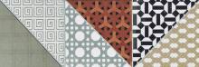 Deco - bordura rektifikovaná 15x45 vícebarevná