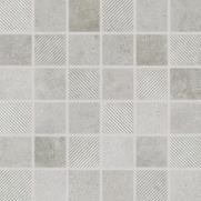 Form - dlaždice mozaika 30x30 šedá reliéfní