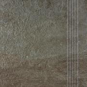 Como - schodovka 33x33 hnědočerná
