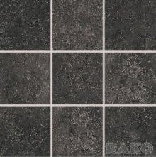 Base - dlaždice rektifikovaná 10x10 černá reliéfní