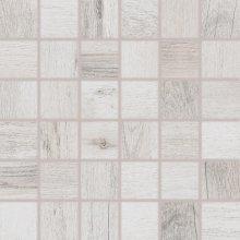 Saloon - dlaždice mozaika 5x5 bílošedá