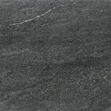 Quarzit - dlaždice rektifikovaná 60x60 černá matná reliéfní